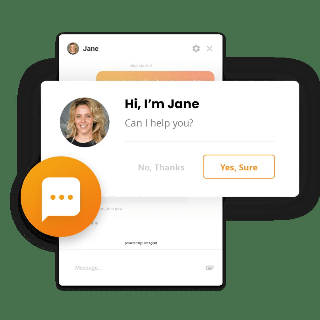 Proaktive Chat Einladungen