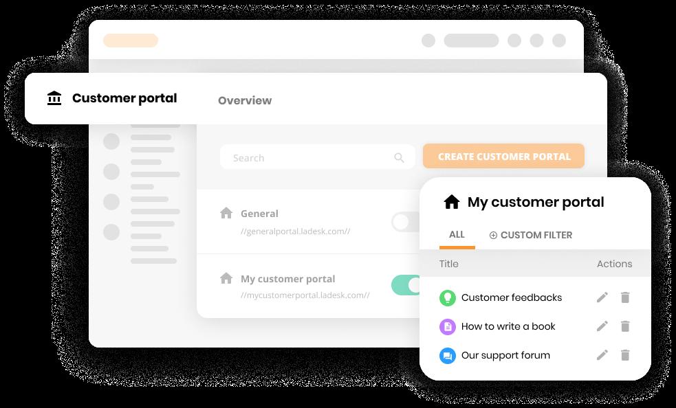 Customer portal settings