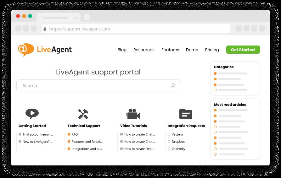 Customer portal software - LiveAgent