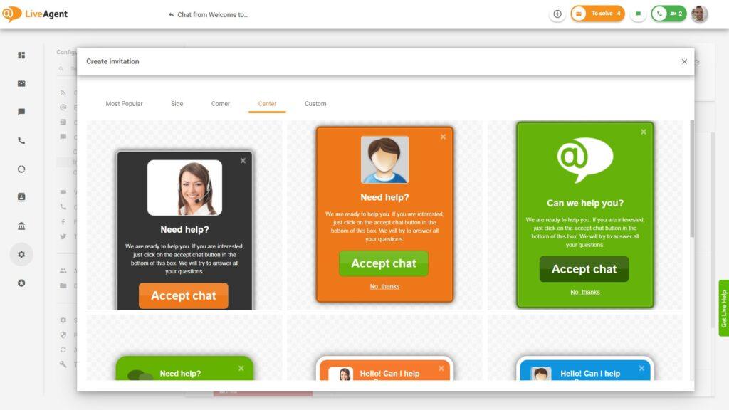 creare-inviti-con-software-di-chat-live-gratuito-per-un-sito-LiveAgent
