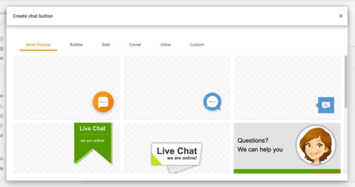 Настраиваемые кнопки чата в LiveAgent