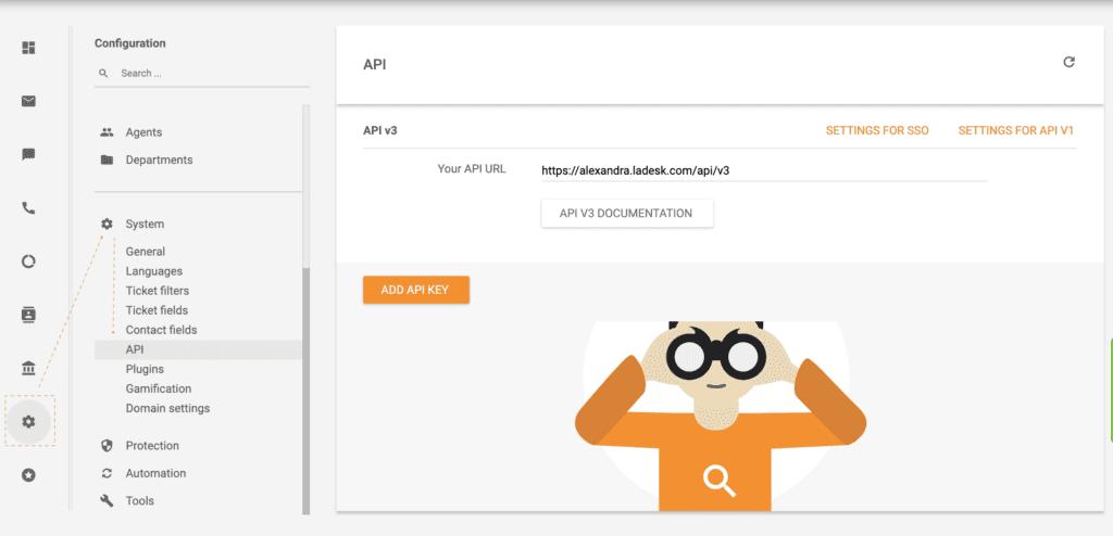 LiveAgent API example