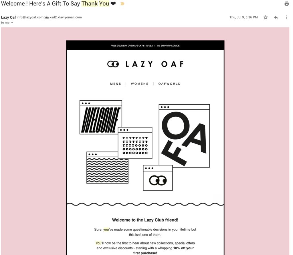 customer appreciation email template lazy oaf