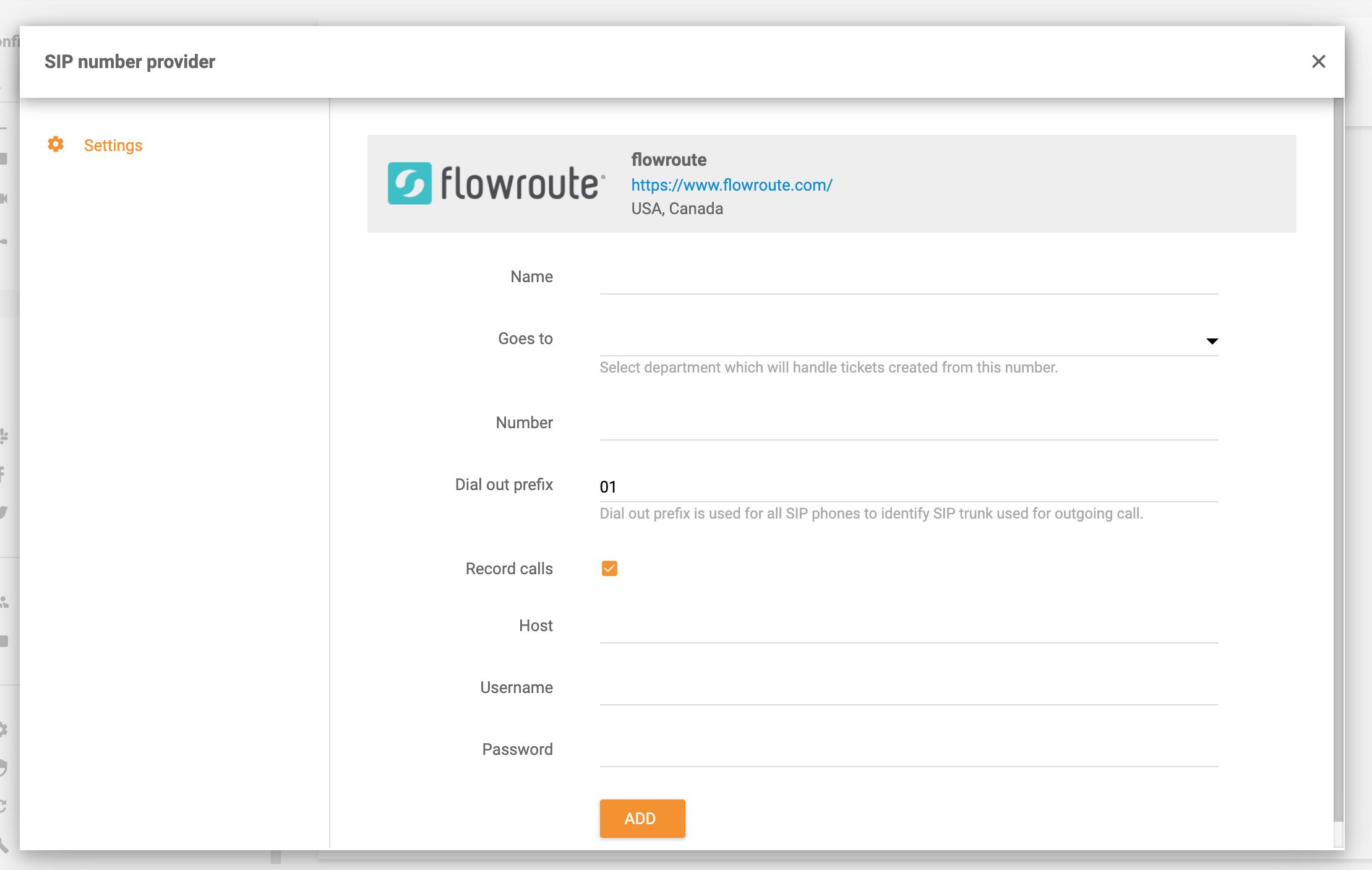 Flowroute-integration-LiveAgent