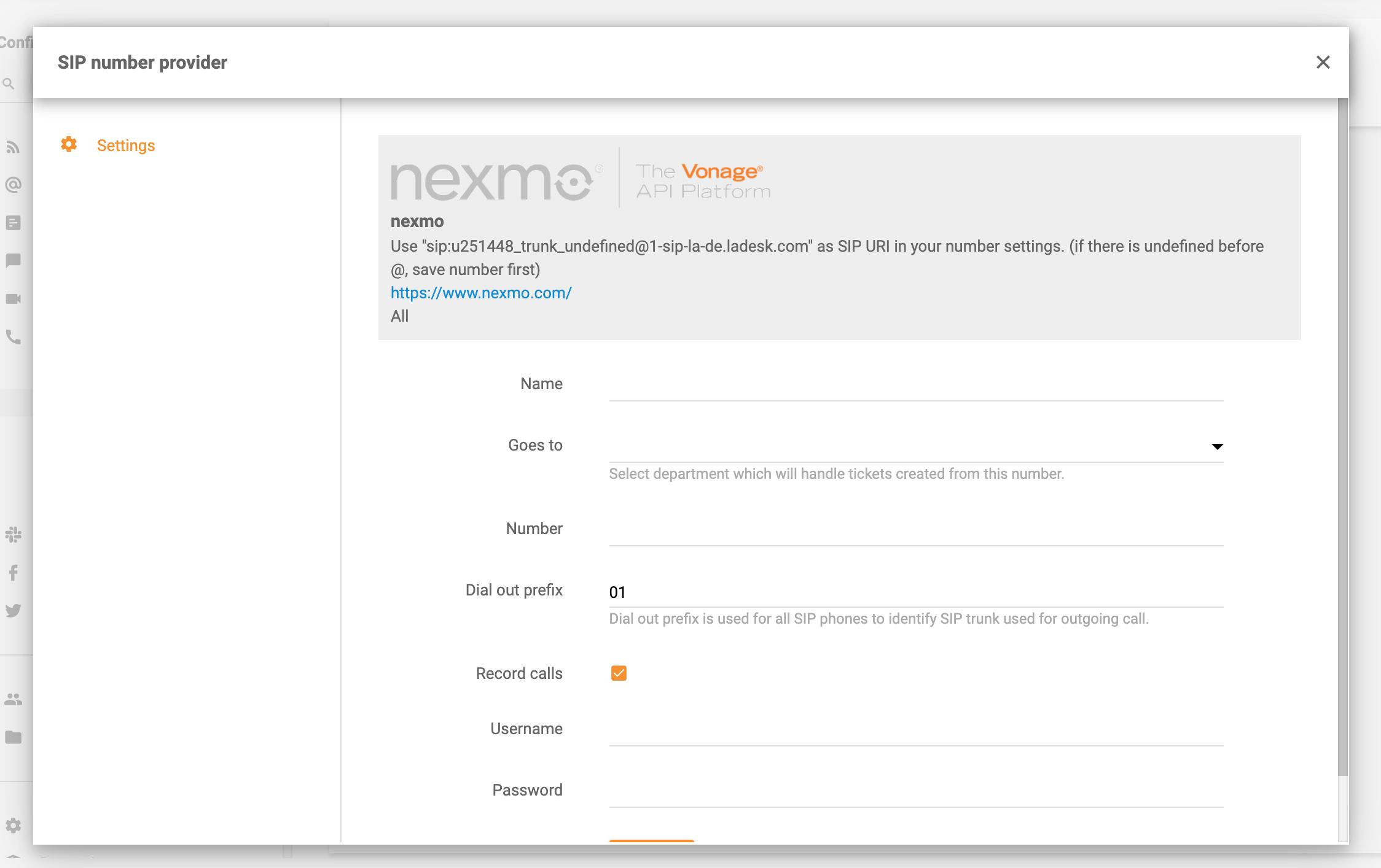 Nexmo-in-LiveAgent