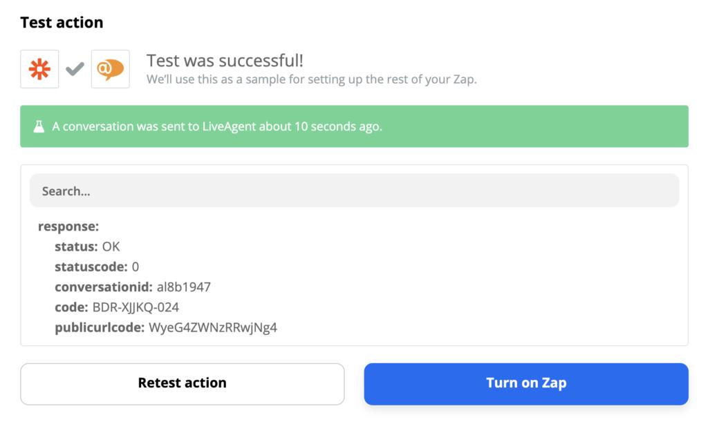 Успешное завершение тестирования интеграции LiveAgent и Trello на Zapier