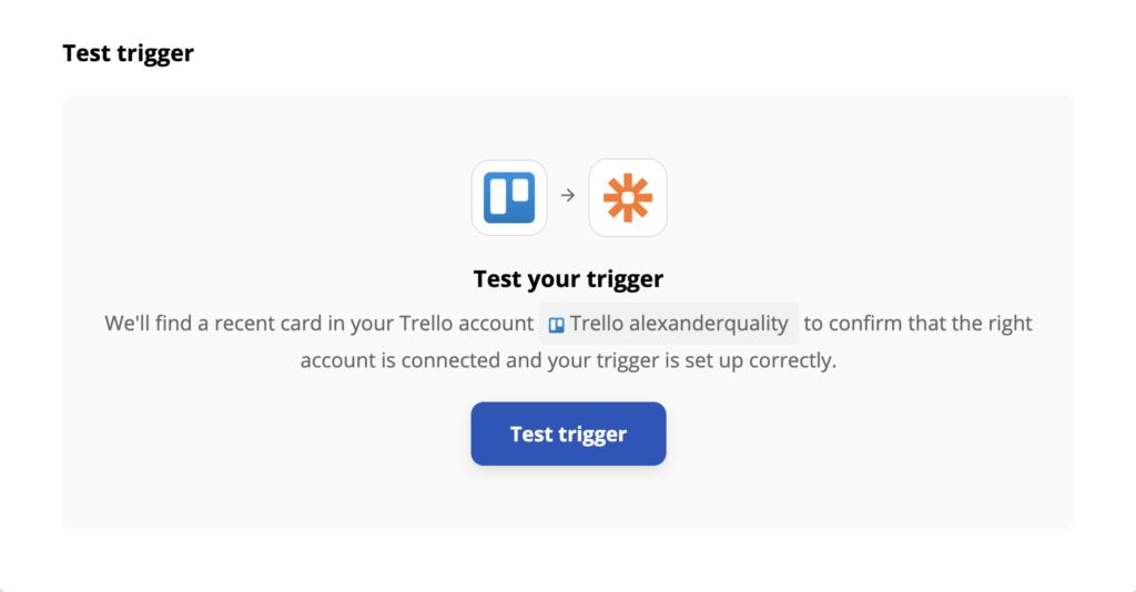 Тестирование триггера в Trello на Zapier