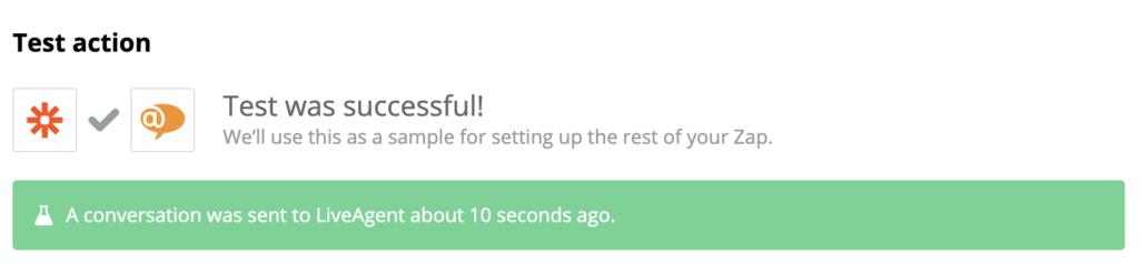Een succesvolle test van een PayPal- en LiveAgent-integratie