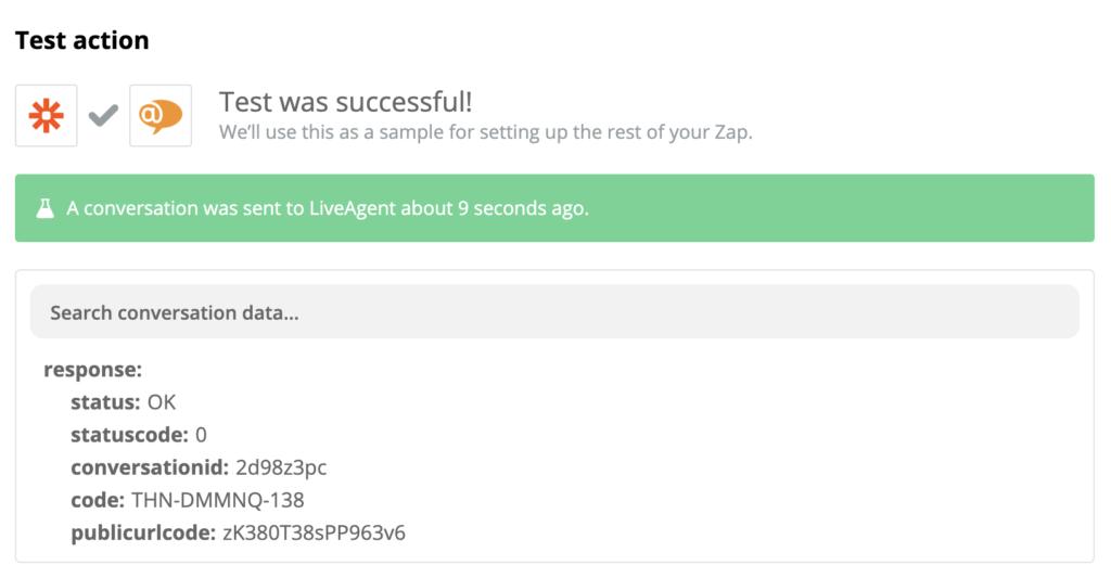 Успешная проверка работоспособности интеграции LiveAgent и Shopify