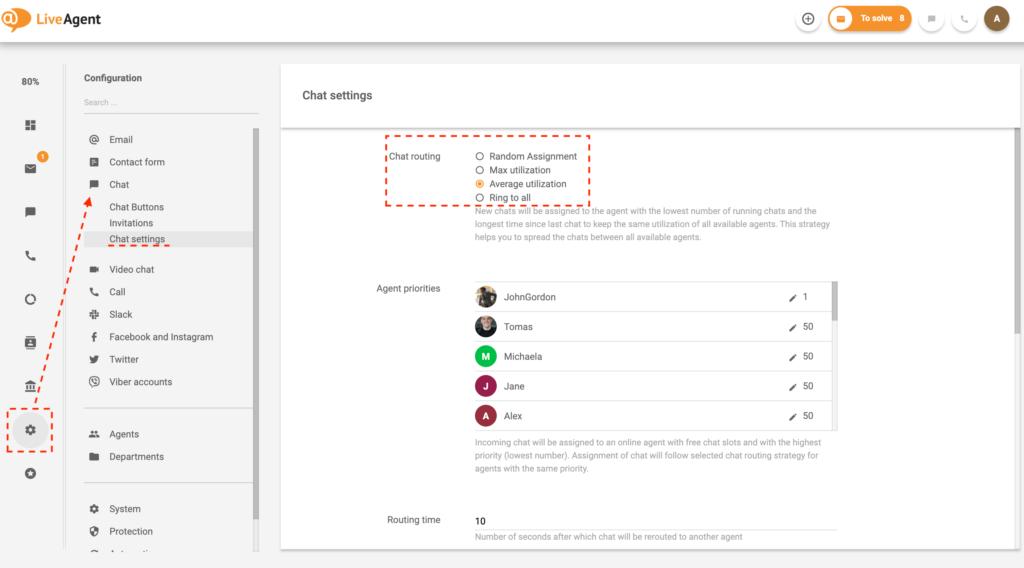 Funzionalità-distribuzione-chat-LiveAgent