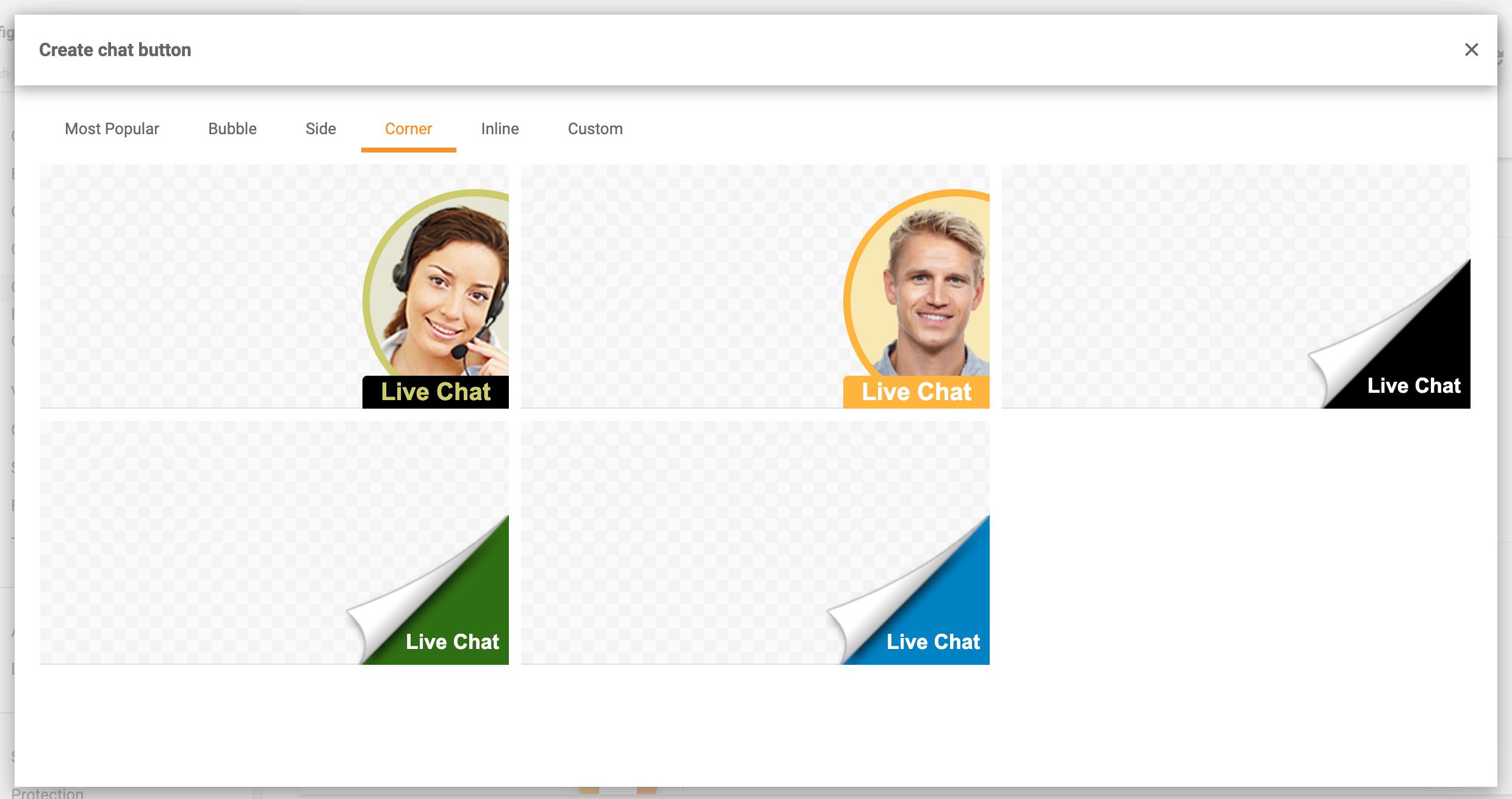 Chat-widget-gallery-corner-LiveAgent