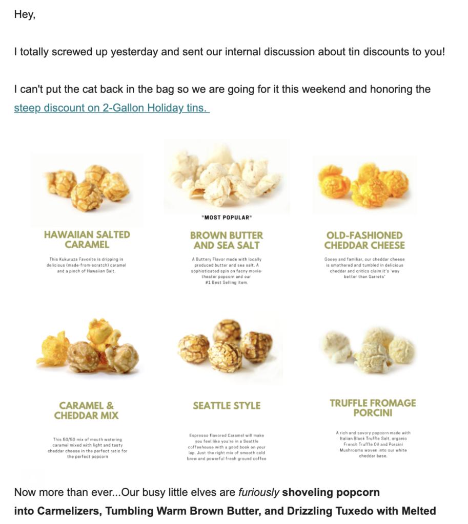 Entschuldigungss-E-Mail-Vorlage von Kukuruza