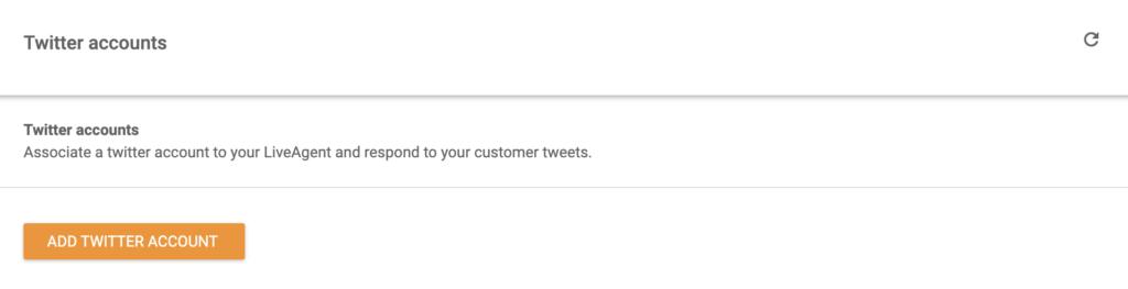 Добавление аккаунта Twitter в LiveAgent