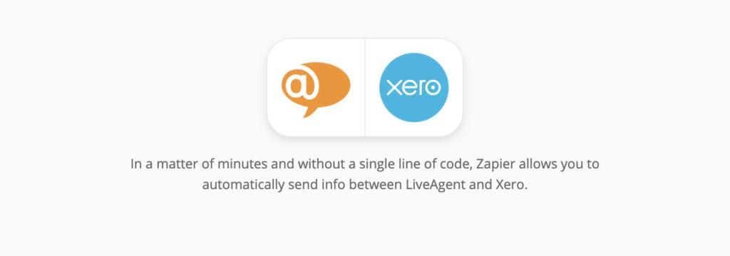 Xero- en LiveAgent-integratiepagina op Zapier