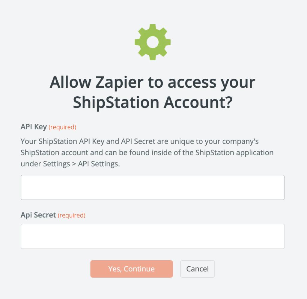 ShipStation API-instellingen