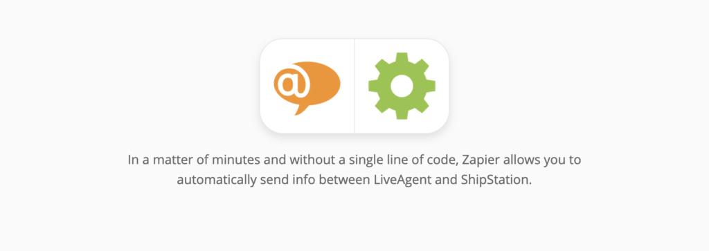 Страница интеграции LiveAgent и ShipStation на сайте Zapier