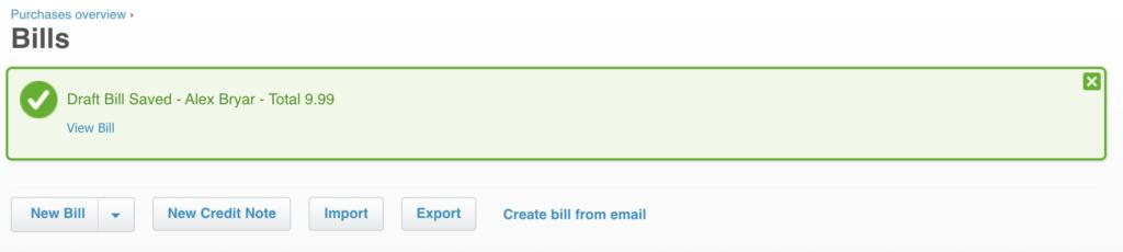 Een nieuwe factuur toegevoegd aan Xero voor LiveAgent-integratietest