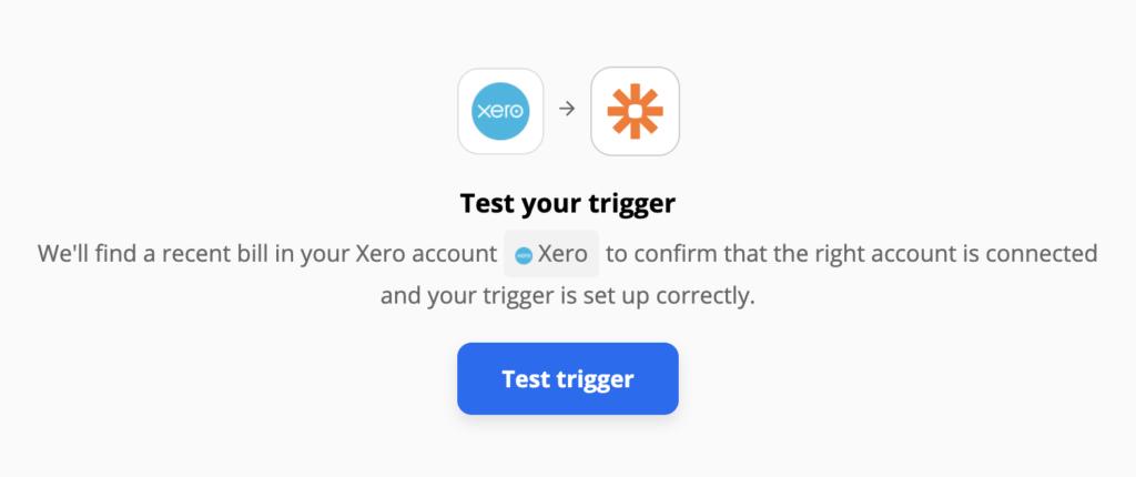 Xero-triggertest op Zapier-integraties