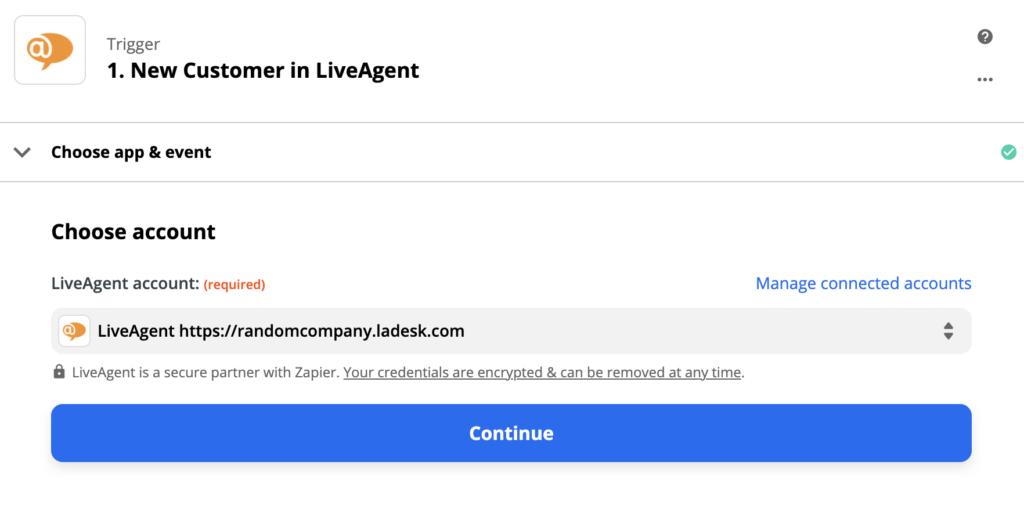 Настройка триггера LiveAgent