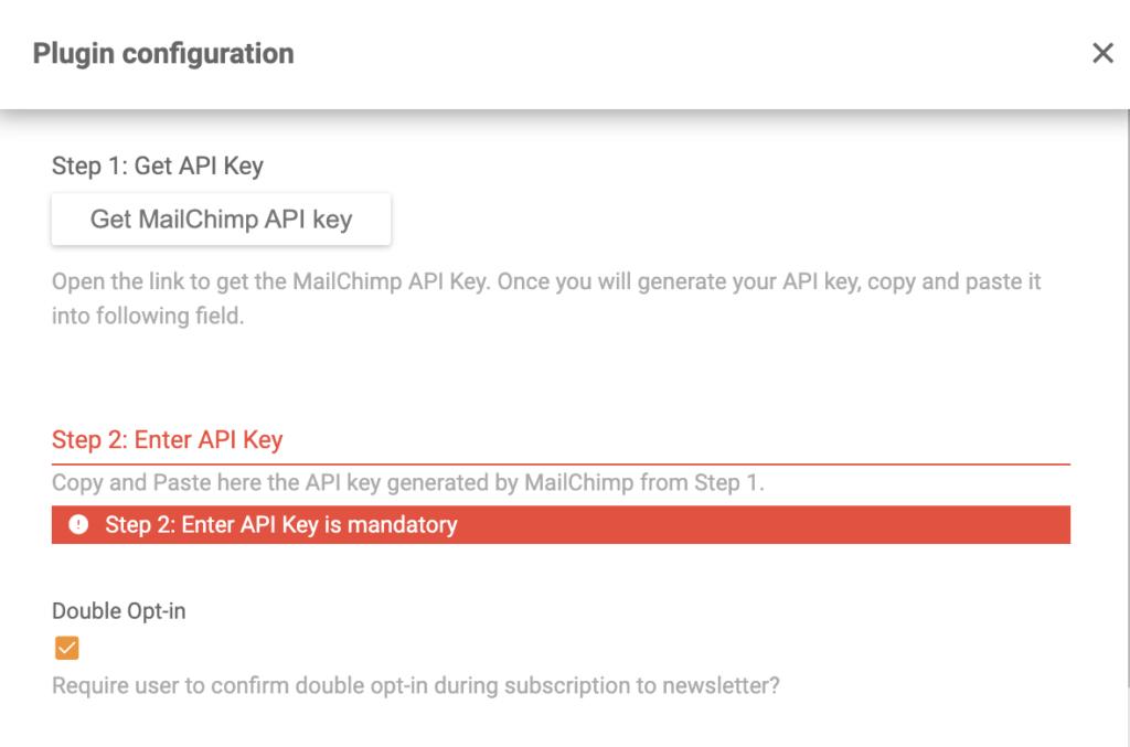Настройка и конфигурация расширения Mailchimp