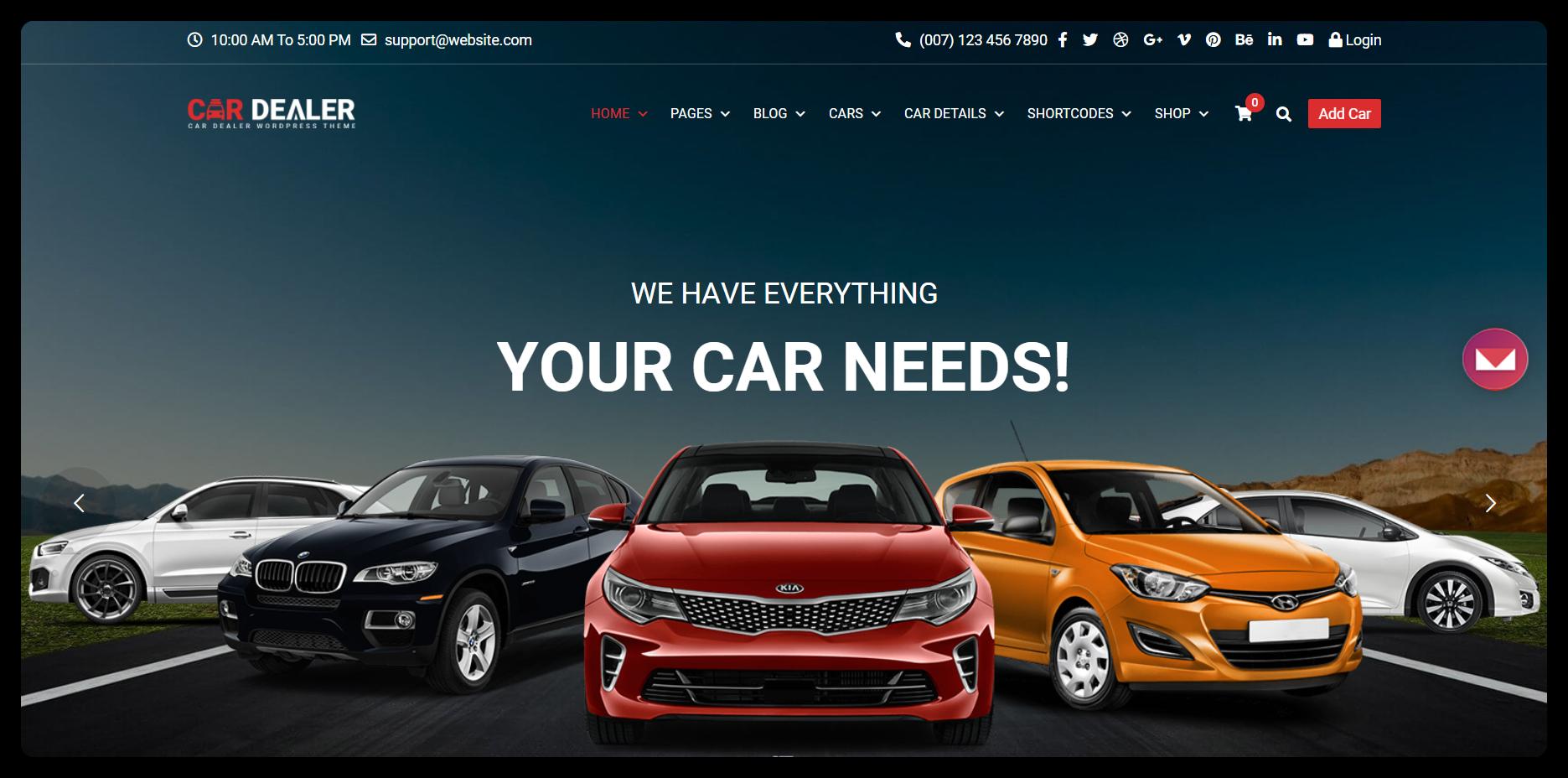 Онлайн чат для автоиндустрии