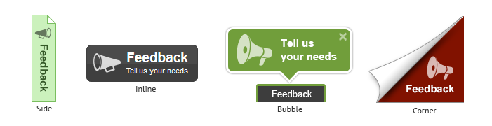 Feedback button styles